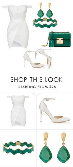 """""""Untitled #438"""" by zerinac931 ❤ liked on Polyvore featuring Topshop, Jimmy Choo, Kate Spade, Juvi and Gucci"""
