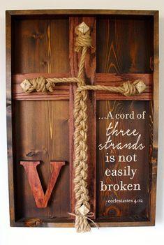 Wedding Unity Ceremony - Unity Braid w/Ecclesiastes 4:12 scripture