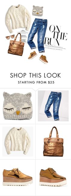 """""""Owl"""" by youaresofashion ❤ liked on Polyvore featuring San Diego Hat Co., Tommy Hilfiger, J.Crew, Chanel and STELLA McCARTNEY"""