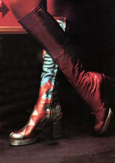 terry de havilland boots Photographed by Marc Leonard vanity Fair, January 1972 1970s boots