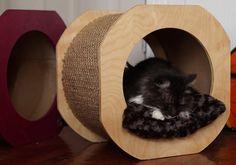 The Cat Spool Handmade Kitty Hideaway