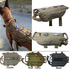 Tactical Dog K9 Training  Molle Vest Harness (5 Sizes) in Pet Supplies, Dog Supplies, Harnesses   eBay