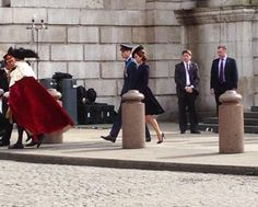 Duke and Duchess of Cambridge leaving the ceremony #AfghanService