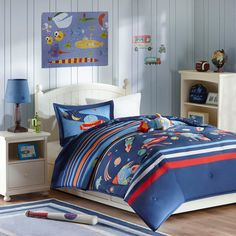 Space Scout Comforter Set - Blue (Full/Queen)