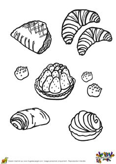 P tisserie and recherche on pinterest - Dessin boulangerie patisserie ...