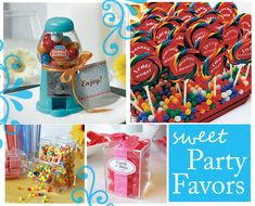 Sweet Sixteen Party Favors Ideas   Party Themes   Candy Party  Candy Party Ideas   Thoughtfully Simple