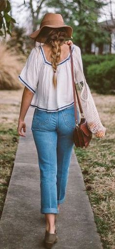 #summer #fashion / casual denim