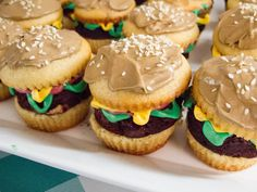 "these are fing precious >>> The Small Boston Kitchen: ""Burger"" Cupcakes"