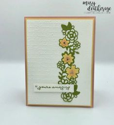 Stampin' Up! Amazing Ornate Borders Thank You Card | Stamps – n - Lingers