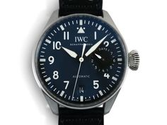 IWC Pilot Classic Big Pilot 46MM Watch, Fashioned in Stainless Steel, Featuring a Black Dial, Black Calf Strap and Automatic Movement