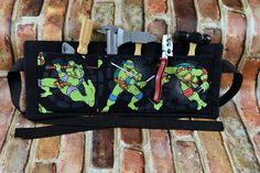 Ninja Turtles Tool Belt | Boys Craft Apron | Child's Tool Apron | TMNT Toy Set |  Handmade Birthday Gift | Pretend Play Construction Art by 2KrazyLadiesCrafts on Etsy