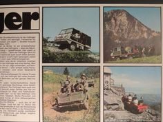 FINN – Steyr Puch Haflinger og Pinzgauer 3 brosjyrer
