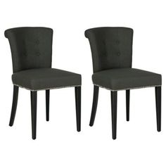 Check out this item at One Kings Lane! Dark Gray Isaac Ring Chairs, Pair