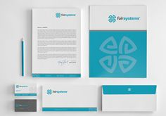 Fair Systems Stationery Design Project , We need a stationary design for a new company called Fairsystems. We provide business/IT consultancy services for Medium-Large businesses. The statio¡ Corporate Stationary, Stationary Branding, Corporate Design, Business Card Design, Business Cards, Letterhead Business, Stationary Set, Corporate Identity, Brand Identity Design