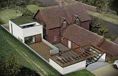 Image result for old cottage with new addition architect