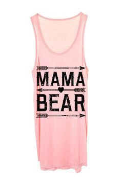 Top, Tank top, Coral Top, Lettering Top, Mama bear top, arrow print top, Cute top, Summer Tank top, Racer back top, Fashion, Style, Beauty, Online Boutique - Modern Vintage Boutique
