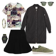 """""""Pictures of you in my mind"""" by falonstarrider on Polyvore featuring Zara, H&M, Carven, Ray-Ban, adidas, outfit, ootd and LOTD"""