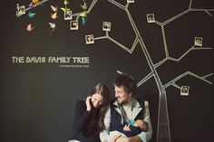 Love the idea of keeping this family tree up where everyone can see and enjoy it. Maybe in the basement? In the studio, on one chalkboard wall? Cute Family, Baby Family, Family Room, Baby Pictures, Baby Photos, Family Photos, Family Tree Mural, Family Trees, Chalk Wall