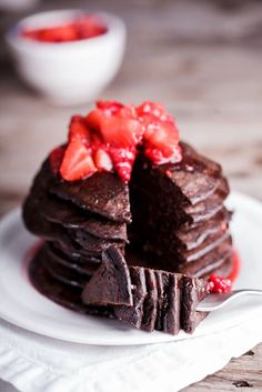 Easy and healthy chocolate banana oat pancakes
