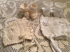A PDF downloadable crochet pattern of baby Erika christening, bonnet, booties and headband. A very beautiful pattern done with freeform crochet. The skirt is done in a filet crochet style with a flower pattern. The whole outfit will take about 45-50 hours to complete.  The pattern is done using crochet thread no. 10. It also calls for 1.5mm crochet hook.  The outfit will fit a baby 3-6 months. The gown is 29 inches long and the waist is 20 inches. The headband measures 19 inches and the…