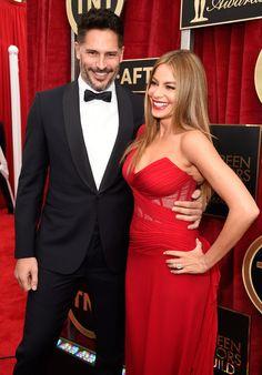 Sofia Vergara and Joe Manganiello at SAG Awards 2015