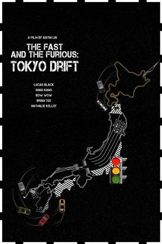 The Fast & The Furious: Tokyo Drift - movie poster - Edgar Ascensão Fast And Furious, The Furious, Drift Movie, Tokyo Drift Cars, Paul Walker Movies, Nathalie Kelley, Lucas Black, Shibuya Tokyo, Art Painting Gallery