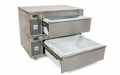 Adande VNS2.PT Double Drawer Combination Slimline & Standard Drawerr Side Engine Refrigeration Unit with Plinth Slides and Cover Top