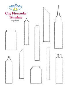City Fireworks Template for a DIY Fourth of July Crown! eeboo-craft-project-jun13-city-fireworks-2.jpg (2550×3300)