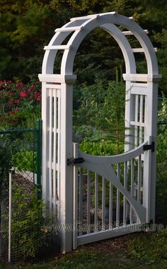 Arched Arbour with larger rafters for a more substantial look