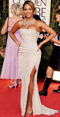 From Marilyn to J.Lo, See Our Favorite Golden Globes Gowns of All Time - Beyonce, 2009 from InStyle.com