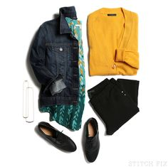 I love everything but no denim jacket, please! Colors, patterns ... Love it!