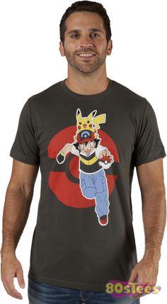"""Ash and Pikachu"" Men's Pokemon t-shirt"