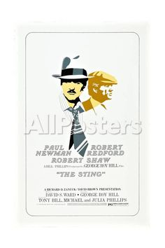 The Sting, from Left: Robert Redford, Paul Newman, 1973 Movies Giclee Print - 41 x 61 cm