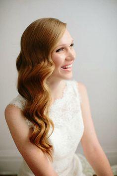 Peinado de novia con ondas retro vintage