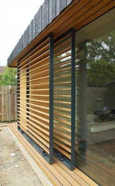 House Ideas Exterior Moderne Türen Ideen - home/haus Design Exterior, Modern Exterior, Ranch Exterior, Bungalow Exterior, Outdoor Shutters, Modern Shutters, Casas Containers, Exterior Cladding, Exterior Doors