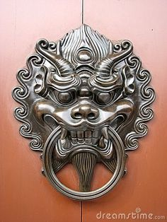 LOVE these Chinese door knockers for Zhangs Asian Bistro