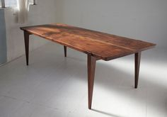 84 W x 36 D x 30 H  Urban salvaged Western Walnut  Custom dimensions available.  Also available in American Ash, American Cherry, and Eastern Walnut.
