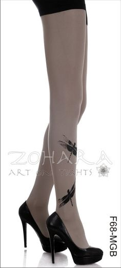 Dragonflies print Tights F68MGB by zoharatights on Etsy