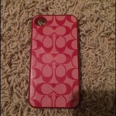 Authentic Coach iPhone 4 case Authentic Coach iPhone 4 case-- pre owned - shows signs of use - minor scratches on exterior- no chips or cracks Coach Accessories Phone Cases