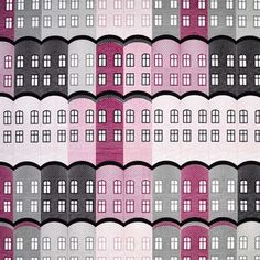 The colorful Stad fabric is designed by Emelie Ek for the Swedish brand Arvidssons Textil. The fabric is made of fine cotton and has a playful and trendy pattern with buildings in different colors. Bring some color into your home with this fabric and use it as curtain or maybe for cushion covers