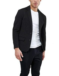 a1b8afe8148e8 Daupanzees Mens Casual Two Button Suits Lapel Blazer Jacket Lightweight Sport  Coat