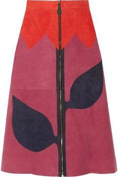 Paneled suede skirt #skirt #women #covetme #houseofholland