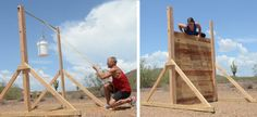 WALL OBSTACLE - BUILD AND TRAIN Raise the wall up to 10′ (did you choose supports that were big enough?) and anchor a rope securely to the ground on the other side. Practic...