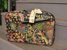 Antique Carryon Luggage made in Japan Black with  by lanaiblooms