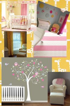 pink yellow and gray ideas