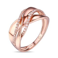 Luvente 14K Rose Gold Diamond Ring available Michael Herr Diamonds & Fine Jewelry. Visit our St. Louis area store or contact us to order.