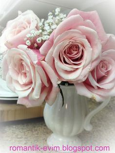 My Blush Pink Roses Look Gorgeous In This Pitcher