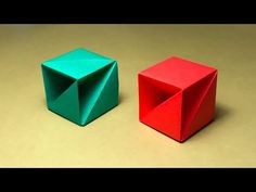 Origami Box with one piece of paper - YouTube