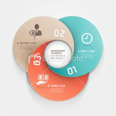 Modern Infographics business diagram circle template. Royalty Free Stock Vector Art Illustration