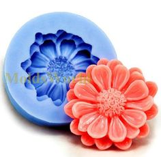 A303 Silicone Mold  Pom Pom Chrysanthemum Cabochon 1 Cavities Flexible Mould for Polymer Clay Resin Candy Fimo Super Sculpey Crafts Jewelry on Etsy, £1.22